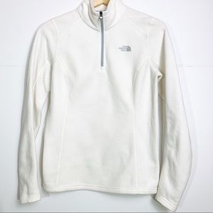THE NORTH FACE Ivory/White Quarter Zip Fleece